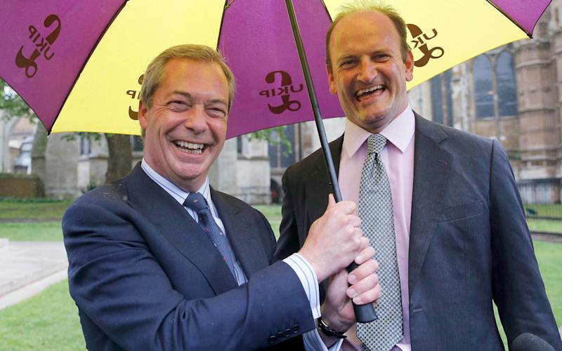 Nigel Farage and UKIP Party MP Douglas Carswell - Credit: REUTERS/Suzanne Plunkett