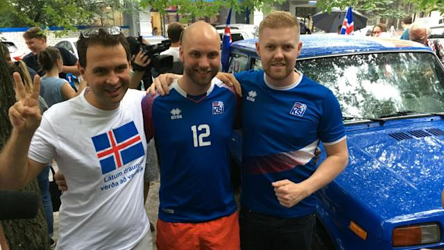 The commitment of fans to following their teams at the World Cup has been impressive, but two Iceland supporters surely take the crown.