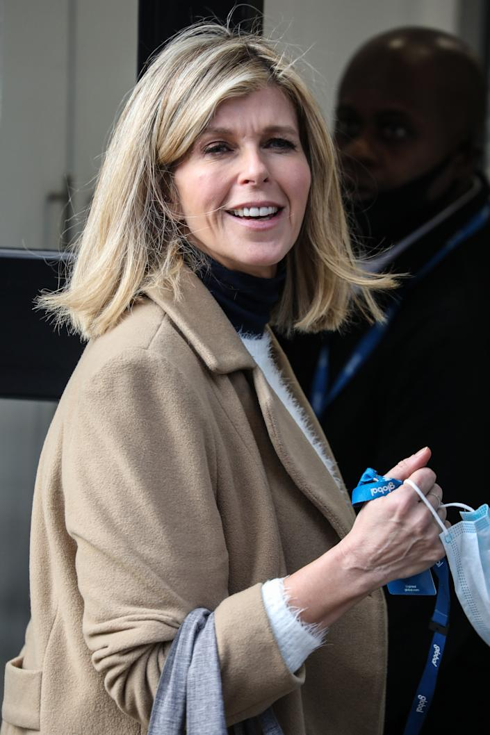 Kate Garraway arrives at The Global Radio Studios In London. (Photo by Brett Cove / SOPA Images/Sipa USA)