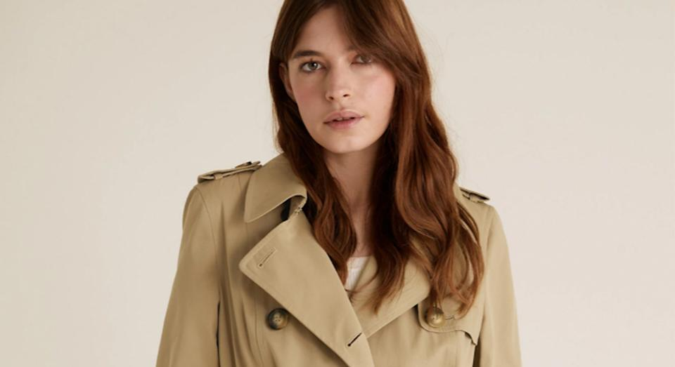 Marks and Spencer's top-rated trench coat is on sale.  (Marks and Spencer)