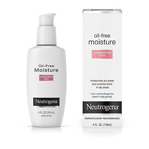 """<p><strong>Neutrogena</strong></p><p>amazon.com</p><p><strong>$9.52</strong></p><p><a href=""""https://www.amazon.com/dp/B000052ZB8?tag=syn-yahoo-20&ascsubtag=%5Bartid%7C10055.g.32906564%5Bsrc%7Cyahoo-us"""" rel=""""nofollow noopener"""" target=""""_blank"""" data-ylk=""""slk:Shop Now"""" class=""""link rapid-noclick-resp"""">Shop Now</a></p><p>The ultimate choice for the moisturizer-averse, GH Seal holder Neutrogena is a light, mild oil-free formula that reduces shine on oily and <a href=""""https://www.goodhousekeeping.com/beauty/anti-aging/a36395/how-to-quickly-get-rid-of-pimples/"""" rel=""""nofollow noopener"""" target=""""_blank"""" data-ylk=""""slk:breakout-prone"""" class=""""link rapid-noclick-resp"""">breakout-prone</a> areas while delivering balanced hydration. GH Beauty Lab evaluations verified that the glycerin-based lotion hydrates skin for up to four hours and soaks into skin quickly, <strong>l</strong><strong>eaving a soft, grease-free finish that won't clog pores, which can exacerbate acne</strong>.</p>"""