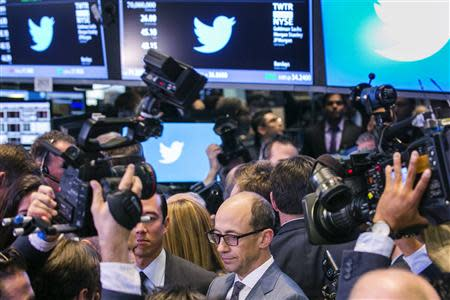 Twitter CEO Dick Costolo is interviewed after the Twitter Inc. IPO on the floor of the New York Stock Exchange in New York