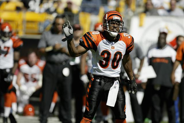 "Terrell Roberts totaled 29 tackles in two season with the <a class=""link rapid-noclick-resp"" href=""/nfl/teams/cincinnati/"" data-ylk=""slk:Bengals"">Bengals</a>. (Photo by George Gojkovich/Getty Images)"