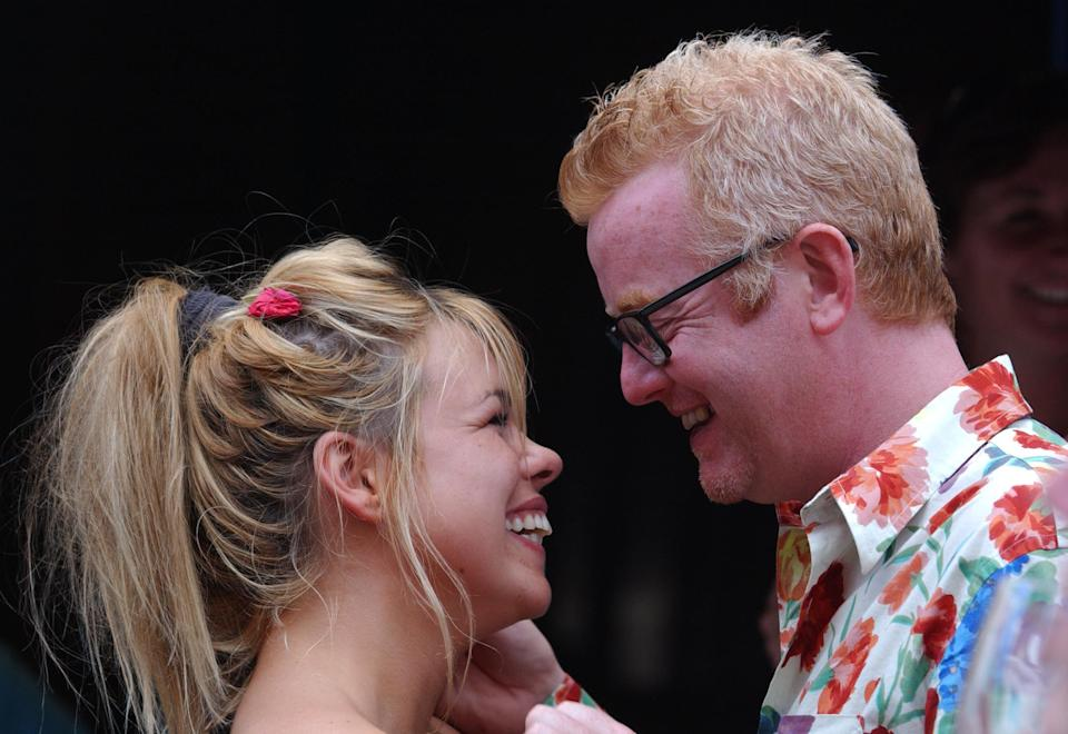 Billie Piper, with her husband Chris Evans at 'A Taste of Soho', a two day family street festival in Soho, London, to mark the end of Totally London Month.   (Photo by Andy Butterton - PA Images/PA Images via Getty Images)