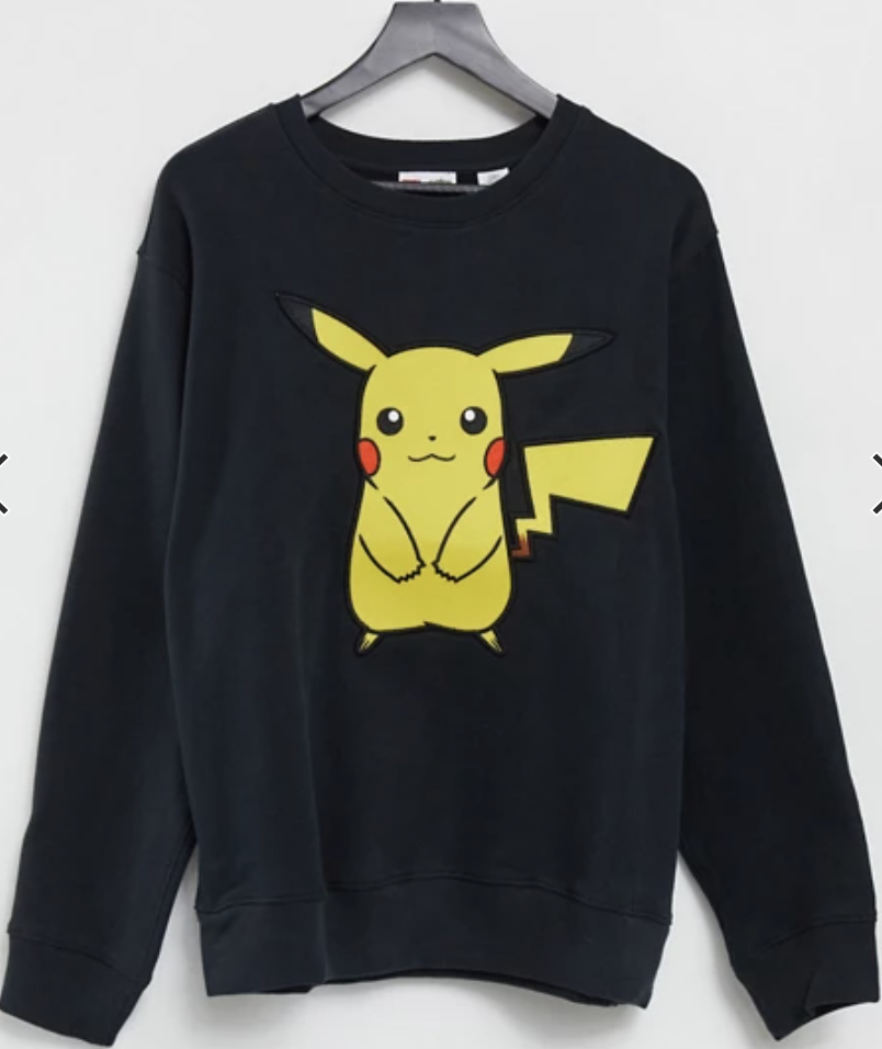 Levi's x Pokemon large happy Pikachu print unisex sweatshirt