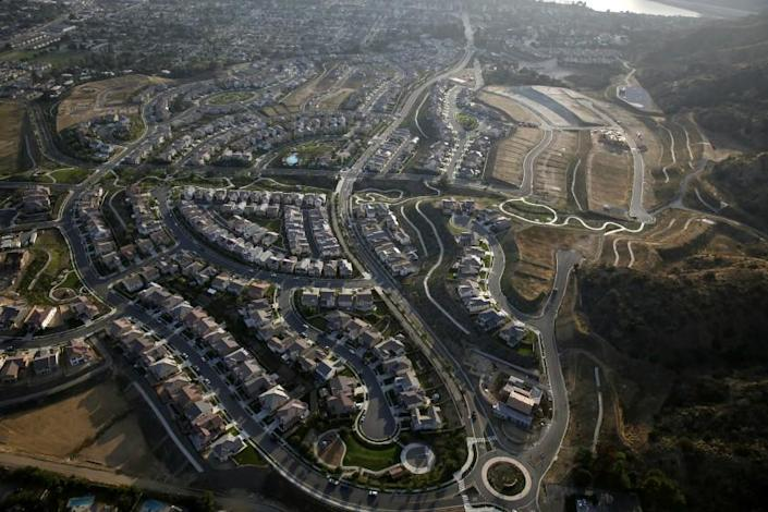 LOS ANGELES, CA, WEDNESDAY, JUNE 3, 2015 - Aerial views of the greater Los Angeles area, above Valencia. A vertical city may tempt people from the suburbs who no longer have the dream of a single family home. (Robert Gauthier/Los Angeles Times)