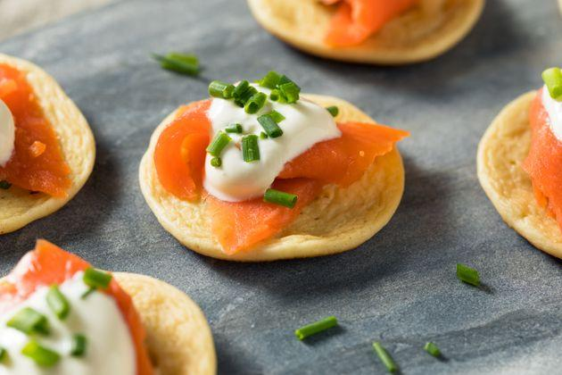 Des mini-blinis Images d'illustration
