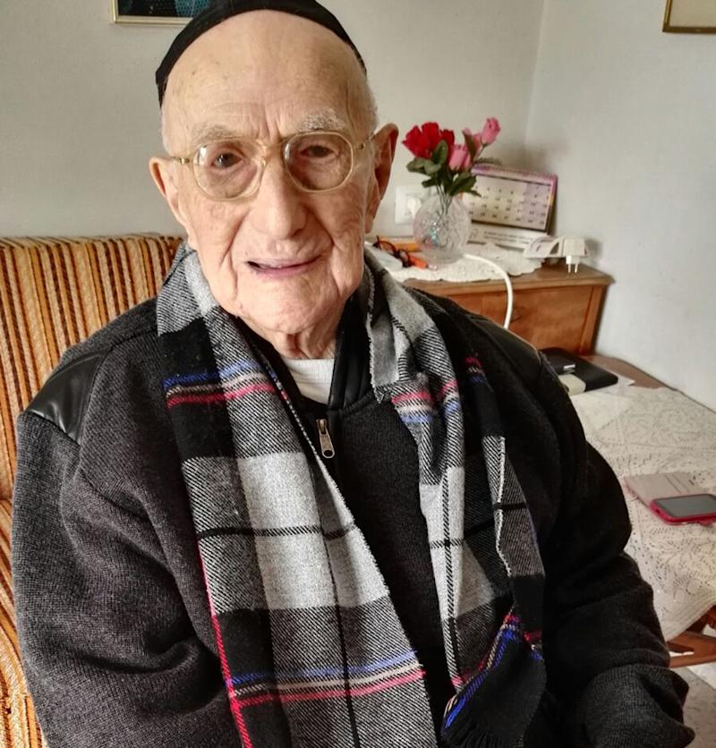 Yisrael Kristal at home in the Israeli city of Haifa. Yisrael in January 2016. His family say he was born in Poland on Sept. 15, 1903, three months before the Wright brothers took the first aeroplane flight.