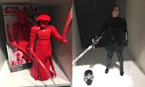 <p>These are larger scale Hasbro figures of Snoke's Praetorian Guard and Kylo Ren (Yahoo Movies UK/Disney) </p>