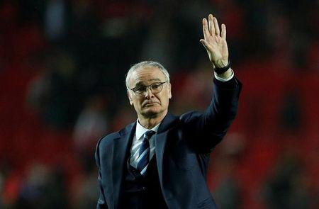 FILE PHOTO: Leicester City manager Claudio Ranieri after the UEFA Champions League Round of 16 First Leg match against Seville
