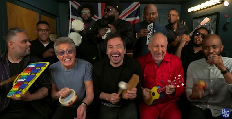 The Who, The Roots, and Jimmy Fallon play classic tune on kids' toys: Watch