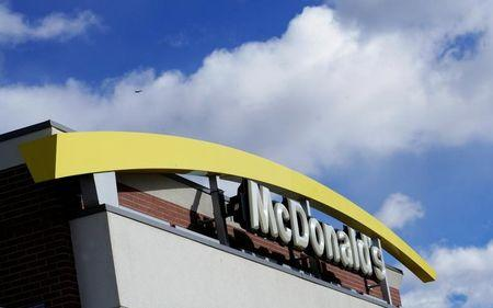 The sign outside a McDonalds restaurant is seen in Westminster