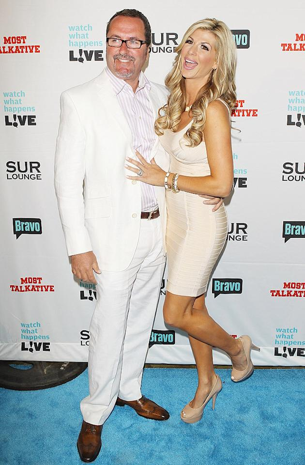 """Real Housewives of Orange County"" star Alexis Bellino and her husband  Jim spent a rare night away from their three young children to support  their boss, Andy Cohen. (5/14/2012)"