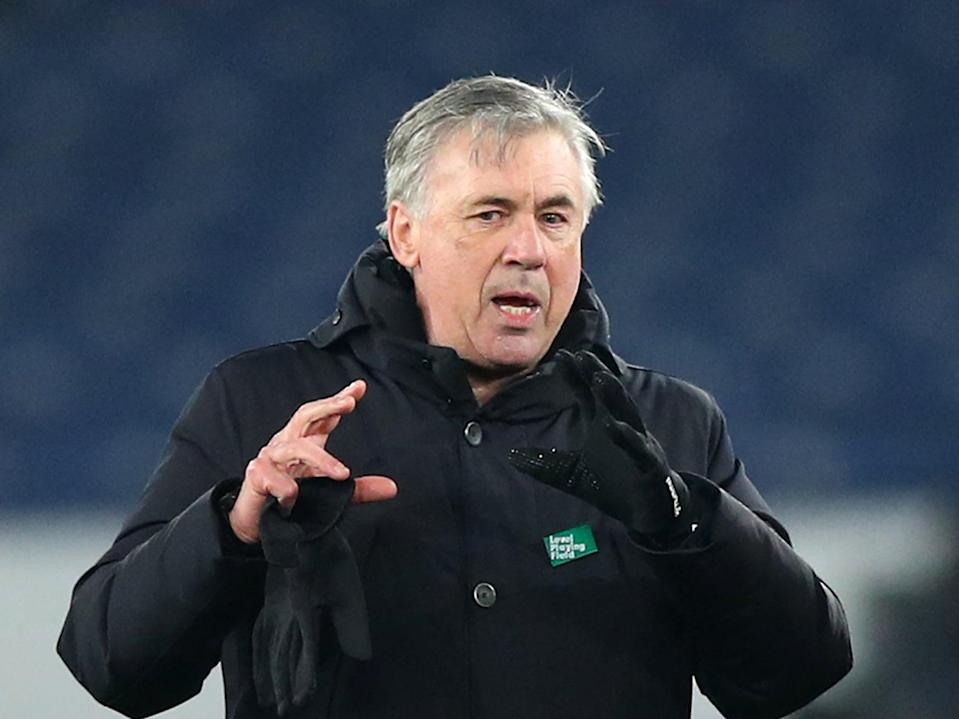 Carlo Ancelotti admits it would be a 'dream' to finish inside the top four with Everton (Getty)