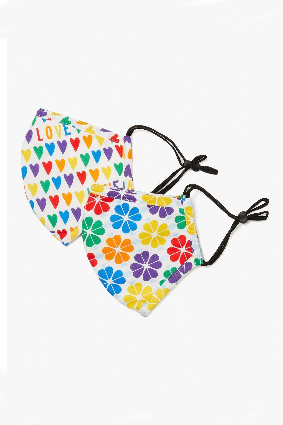 """<p><a class=""""link rapid-noclick-resp"""" href=""""https://go.redirectingat.com?id=127X1599956&url=https%3A%2F%2Fwww.katespade.com%2Fproducts%2Frainbow-hearts-spade-flower-non-medical-mask-set%2FPSR00010.html%3Fcgid%3Dks-rainbow-shop&sref=https%3A%2F%2Fwww.harpersbazaar.com%2Fuk%2Ffashion%2Fg28117677%2Fpride-fashion%2F"""" rel=""""nofollow noopener"""" target=""""_blank"""" data-ylk=""""slk:SHOP NOW"""">SHOP NOW</a></p><p>New York label Kate Spade will donate 20 per cent of proceeds from its Rainbow Shop to the Trevor Project to support the mental health of the young LGBTQ+ community. The make-up bags and vibrant slides are great, but we'll be brightening up our mask collection with these optimistic new styles.</p><p>Hearts and spade mask set, £15, Kate Spade</p>"""