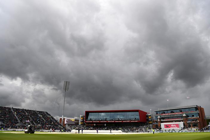 Dark skies over Old Trafford (Photo by Alex Davidson/Getty Images)