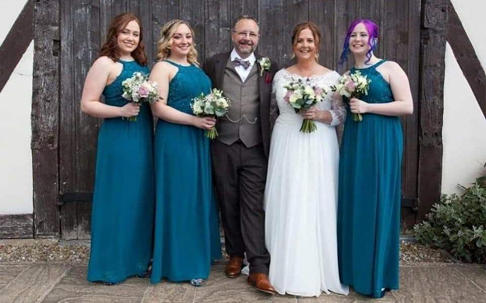 Sarah French-Thornley and her husband Chris on their wedding day