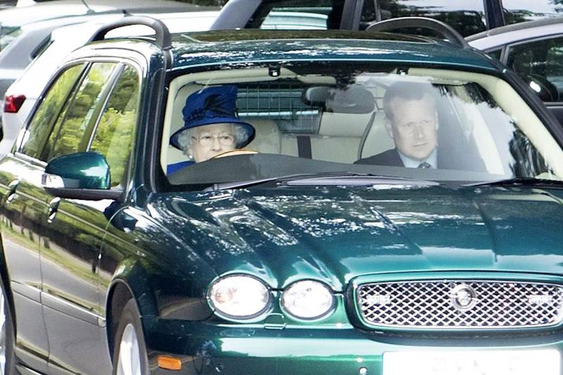 Queen Elizabeth driving in May 2017 | Invicta Kent Media/REX/Shutterstock