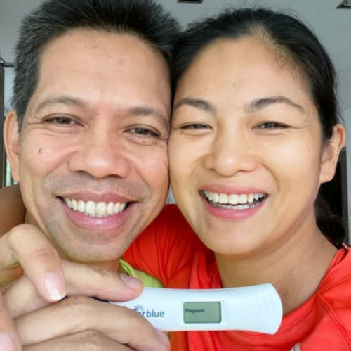 The couple were elated to share the pregnancy news last year