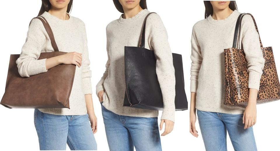 Nordstrom's affordable reversible tote is a must-have for fall (Image via Nordstrom)
