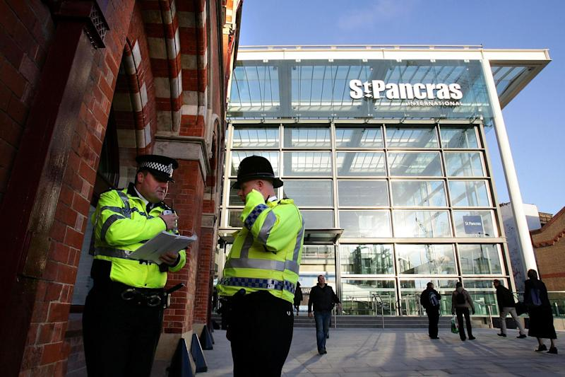 Police outside St Pancras International station (file photo): Getty Images