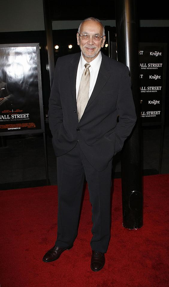 "<a href=""http://movies.yahoo.com/movie/contributor/1800017675"">Frank Langella</a> attends the New York City premiere of <a href=""http://movies.yahoo.com/movie/1810045848/info"">Wall Street: Money Never Sleeps</a> on September 20, 2010."