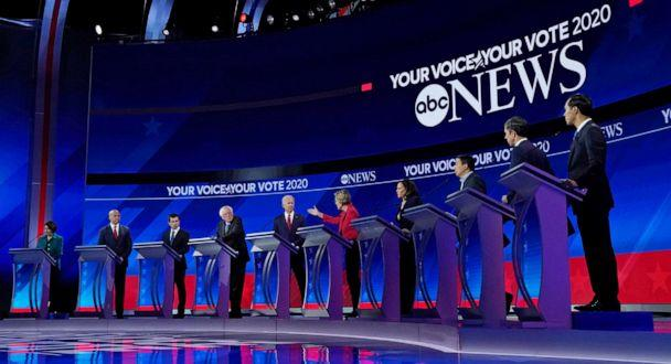 PHOTO: 2020 Democratic presidential candidates participate in a debate at Texas Southern University, Sept. 12, 2019 in Houston, Texas, Sept. 12, 2019. (Heidi Gutman/Walt Disney Television)