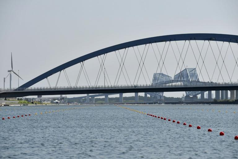 The Sea Forest Waterway sits in the shadow of the huge Tokyo Gate Bridge