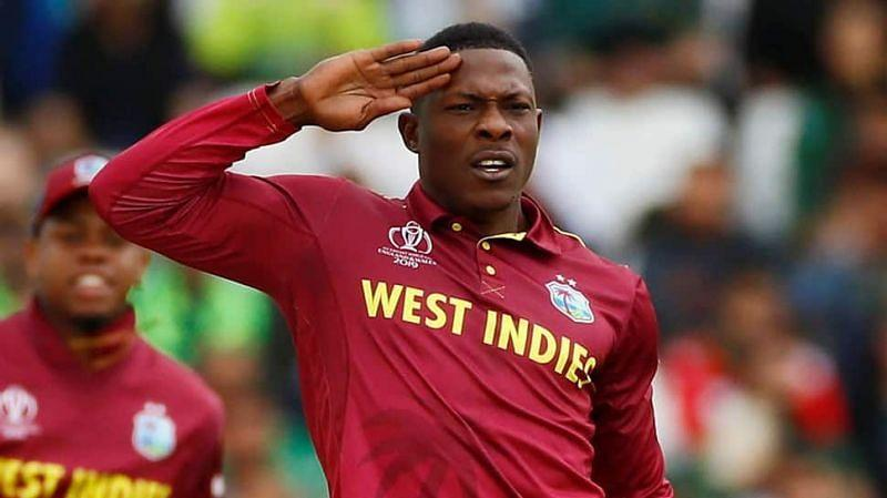 Sheldon Cottrell in action during World Cup 2019.