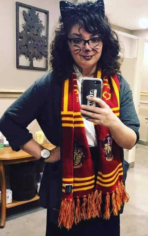 "<p>The <em>Harry Potter </em>book series has about a million and one potential costumes. Here's a twist on an age-old option: Hermione Granger <em>after </em>her infamous Polyjuice Potion mishap, which turned her into a cat. </p><p><a class=""link rapid-noclick-resp"" href=""https://go.redirectingat.com?id=74968X1596630&url=https%3A%2F%2Fwww.halloweencostumes.com%2Fgryffindor-scarf.html&sref=https%3A%2F%2Fwww.oprahmag.com%2Flife%2Fg33224975%2Fbook-character-costumes%2F"" rel=""nofollow noopener"" target=""_blank"" data-ylk=""slk:Shop Gryffindor Scarves"">Shop Gryffindor Scarves</a></p><p><em><a href=""http://www.the-leaky-cauldron.org/features/crafts/resources/howtohermionegrangercostume/"" rel=""nofollow noopener"" target=""_blank"" data-ylk=""slk:Check out a costume tutorial."" class=""link rapid-noclick-resp"">Check out a costume tutorial. </a></em></p>"