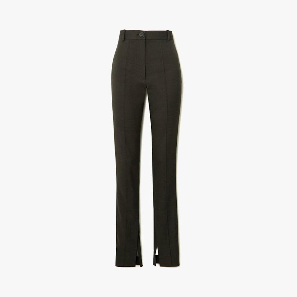 "$985, NET-A-PORTER. <a href=""https://www.net-a-porter.com/en-us/shop/product/peter-do/woven-slim-leg-pants/1213336?cm_mmc=Google-ProductSearch-US--c-_-NAP_EN_US_PLA-_-NAP%C2%A0-%C2%A0US%C2%A0-%C2%A0GS%C2%A0-+Designer+-+Clothing%C2%A0-+Pants%C2%A0-%C2%A0Medium--Pants+-+Straight+Leg_AM&gclid=Cj0KCQjw9YWDBhDyARIsADt6sGY850O_D6rNe-5qGBBM8xcn0JRRjhvYpwnI-lTjIujP8KUUFRuU3xUaAg2-EALw_wcB&gclsrc=aw.ds"" rel=""nofollow noopener"" target=""_blank"" data-ylk=""slk:Get it now!"" class=""link rapid-noclick-resp"">Get it now!</a>"