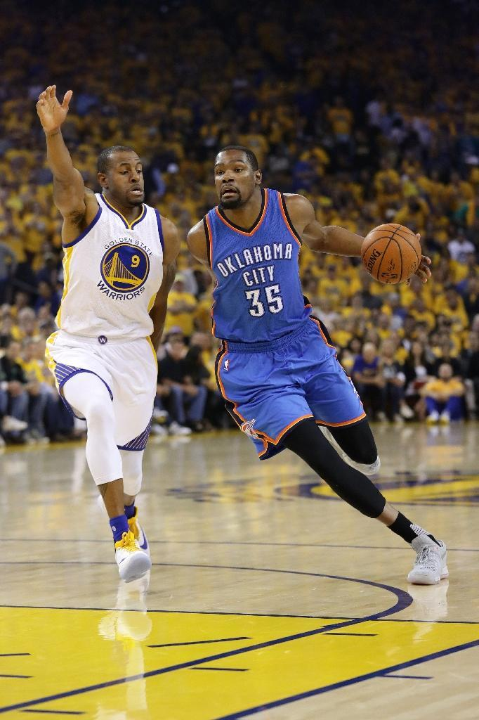 Kevin Durant during Game Seven of the 2016 Western Conference Finals against the Golden State Warriors. Ezra Shaw/Getty Images/AFP (AFP Photo/EZRA SHAW)