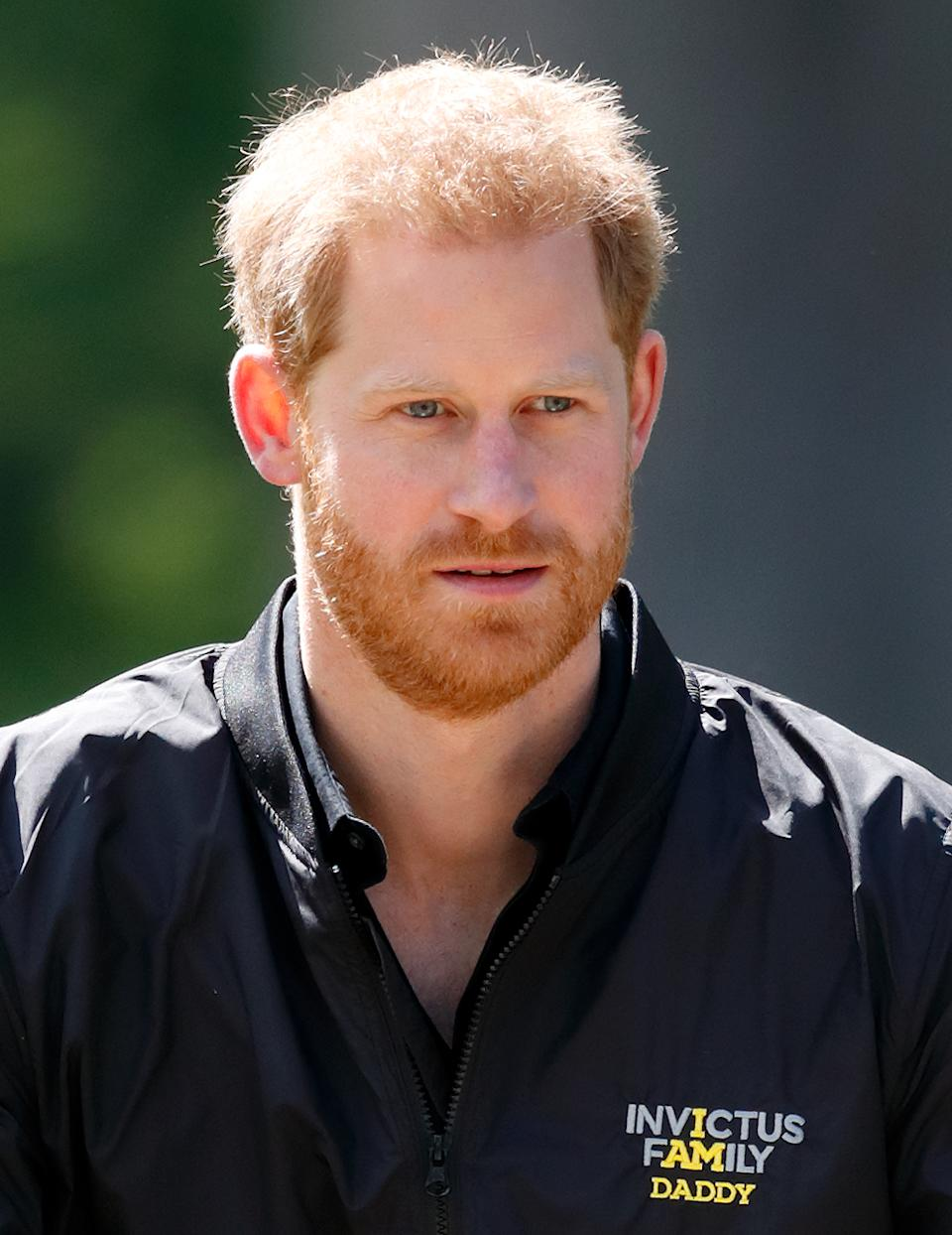 THE HAGUE, NETHERLANDS - MAY 09: (EMBARGOED FOR PUBLICATION IN UK NEWSPAPERS UNTIL 24 HOURS AFTER CREATE DATE AND TIME) Prince Harry, Duke of Sussex visits Sportcampus Zuiderpark as part of a programme of events to mark the official launch of the Invictus Games The Hague 2020 on May 9, 2019 in The Hague, Netherlands. (Photo by Max Mumby/Indigo/Getty Images)