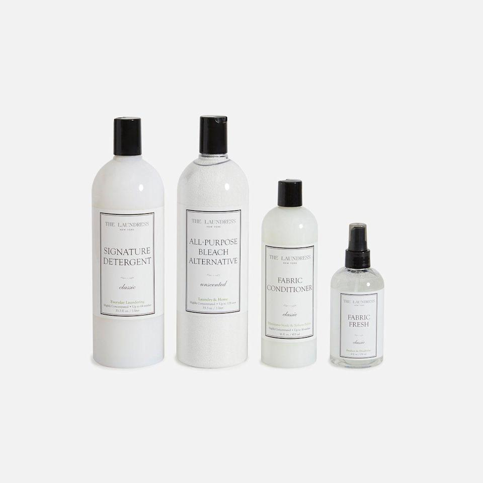 "<p><strong>The Laundress</strong></p><p>brooklinen.com</p><p><strong>$65.00</strong></p><p><a href=""https://go.redirectingat.com?id=74968X1596630&url=https%3A%2F%2Fwww.brooklinen.com%2Fproducts%2Flaundress-bundle&sref=https%3A%2F%2Fwww.cosmopolitan.com%2Fstyle-beauty%2Ffashion%2Fg35221189%2Fvalentines-day-gifts-for-mom%2F"" rel=""nofollow noopener"" target=""_blank"" data-ylk=""slk:Shop Now"" class=""link rapid-noclick-resp"">Shop Now</a></p><p>Here's a set of bougie laundry detergent that smells <em>oh so good</em>.</p>"