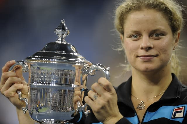 Belgium's Kim Clijsters after winning the US Open in 2010 (Mehdi Taamallah/PA)
