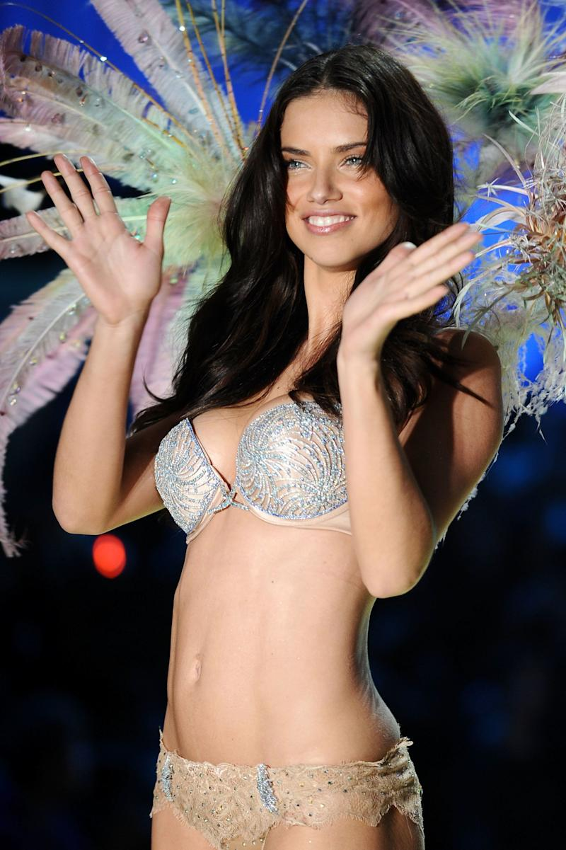 Adriana Lima wearing $2 million fantasy bra by Damiani walks the runway during the 2010 Victoria's Secret Fashion Show on Nov. 10, 2010 in New York City.