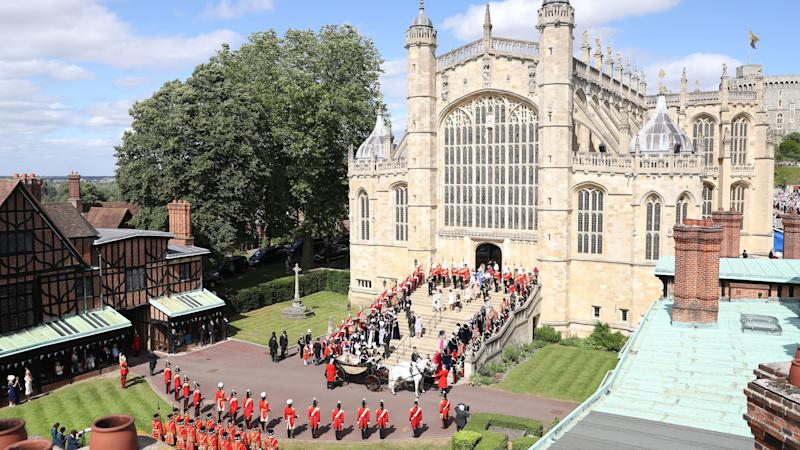 Royal gathering as Queen presides over Order of the Garter service