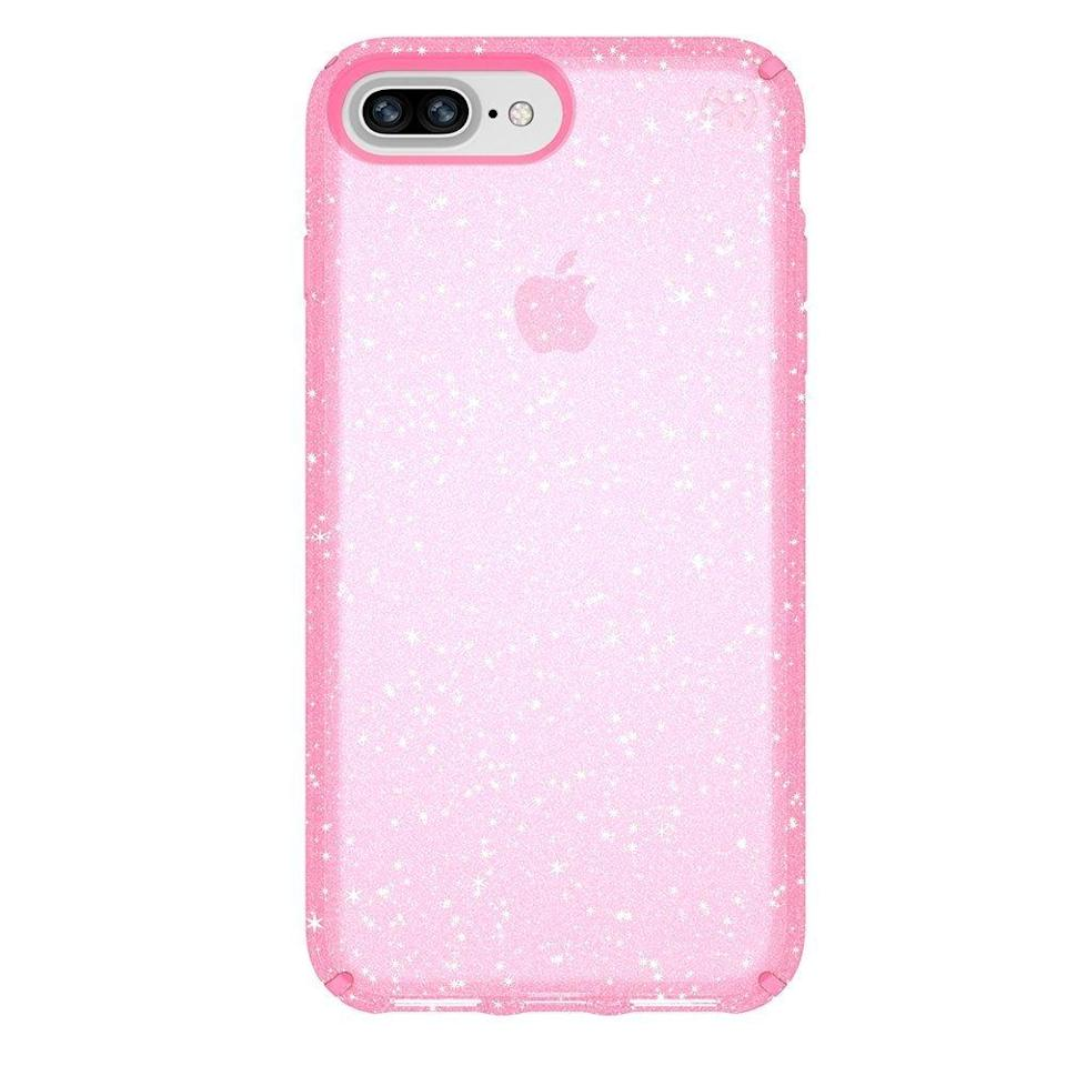 "<p>You can never have enough glitter, but why not make it so that the glitter is <strong>also</strong> keeping your phone safe? Now you can, with the <a href=""https://www.popsugar.com/buy/Speck-Presidio-Clear-Glitter-Case-113252?p_name=Speck%20Presidio%20Clear%20%2B%20Glitter%20Case&retailer=amazon.com&evar1=news%3Aus&evar9=44473996&evar98=https%3A%2F%2Fwww.popsugar.com%2Fnews%2Fphoto-gallery%2F44473996%2Fimage%2F44474000%2FSpeck-Presidio-Clear-Glitter-Case&prop13=desktop&pdata=1"" rel=""nofollow noopener"" target=""_blank"" data-ylk=""slk:Speck Presidio Clear + Glitter Case"" class=""link rapid-noclick-resp"">Speck Presidio Clear + Glitter Case</a> ($50).</p>"