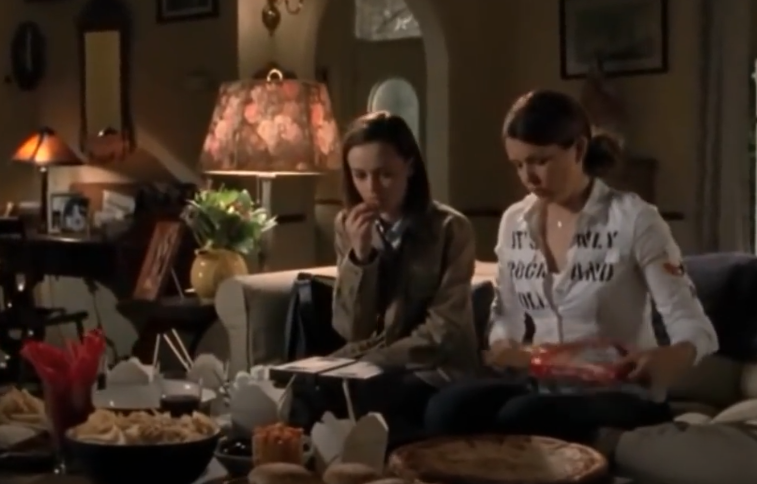 """<p>For someone who often worried about money, Lorelai probably should have taken a closer look at how much she spent on eating out. Look, there's nothing wrong with supporting your local restaurants from time to time. But on <em><a href=""""https://www.cosmopolitan.com/entertainment/tv/a34272788/gilmore-girls-anniversary-lane-kim-deserved-better/"""" rel=""""nofollow noopener"""" target=""""_blank"""" data-ylk=""""slk:Gilmore Girls"""" class=""""link rapid-noclick-resp"""">Gilmore Girls</a></em>, Lorelai and Rory basically lived on Chinese food from Al's Pancake World and diner breakfasts from Luke's. Preparing meals at home is a no-brainer way to save money. </p>"""