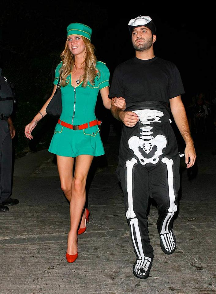 """Nicky Hilton arrives (as what?!) at the house of Hef on the arm of her beau David Katzenberg. AlphaX/<a href=""""http://www.x17online.com"""" target=""""new"""">X17 Online</a> - October 28, 2007"""