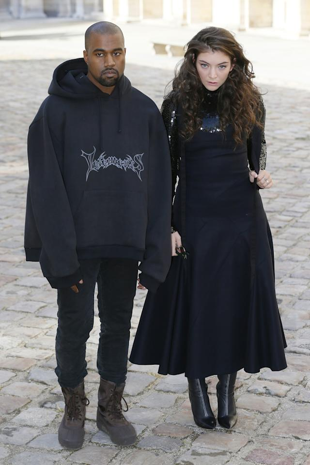 Kanye West and Lorde became the stuff of meme legend when they attended Christian Dior's Fall/Winter 2015 show in Paris, where they easily could have been mistaken for sulky teens. (If sulky teens could afford Vetements, that is.)