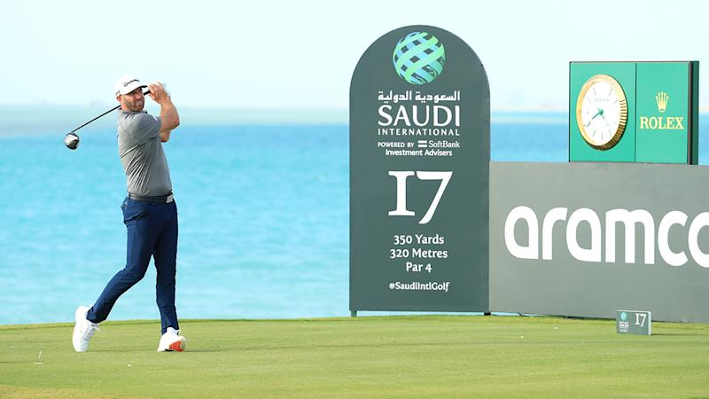 Dustin Johnson, pictured here in action at the Saudi International.