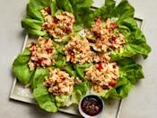"""<p>Creamy <a href=""""https://www.myrecipes.com/ingredients/chicken-recipes/best-chicken-salad"""" rel=""""nofollow noopener"""" target=""""_blank"""" data-ylk=""""slk:chicken salad"""" class=""""link rapid-noclick-resp"""">chicken salad</a> gets a major punch of personality with this wow-worthy, kung pao makeover. Featuring all of the flavors you know and love about <a href=""""https://www.myrecipes.com/recipe/kung-pao-chicken"""" rel=""""nofollow noopener"""" target=""""_blank"""" data-ylk=""""slk:kung pao chicken"""" class=""""link rapid-noclick-resp"""">kung pao chicken</a>, the incredible savory-sweet dressing only gets tastier as it sits, so feel free to prep your chicken salad in advance and allow it some time to chill in the refrigerator. Kewpie mayonnaise is a Japanese brand of mayo that's slightly sweeter than the standard U.S. supermarket standbys (like Hellman's or Duke's) and has a distinct savory richness—and it's definitely worth seeking out. That, and the spicy chile crisp (don't worry, it's not as spicy as it looks in the jar), can be found at most Asian markets or ordered online. </p> <p><a href=""""https://www.myrecipes.com/recipe/kung-pao-chicken-salad"""" rel=""""nofollow noopener"""" target=""""_blank"""" data-ylk=""""slk:Kung Pao Chicken Salad Recipe"""" class=""""link rapid-noclick-resp"""">Kung Pao Chicken Salad Recipe</a></p>"""