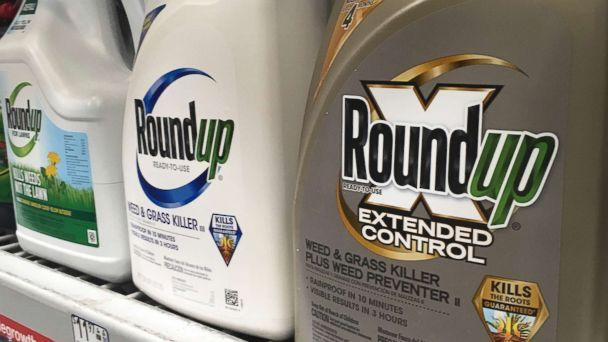 PHOTO: Containers of Roundup are displayed on a store shelf in San Francisco, Feb. 24, 2019. A jury in federal court in San Francisco has concluded that Roundup weed killer was a substantial factor in a California man's cancer. (Haven Daley/AP, FILE)
