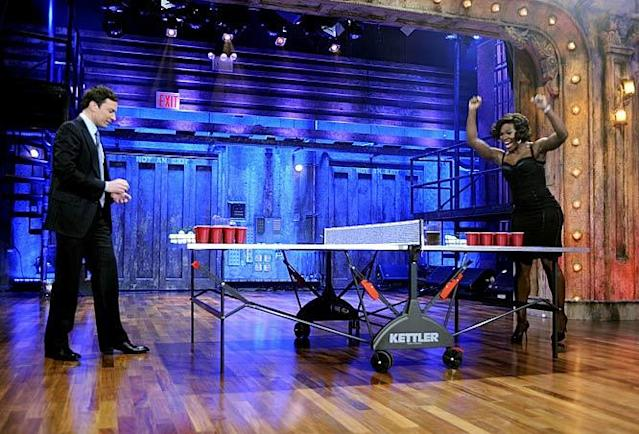 "Serena Williams dominated Jimmy Fallon on ""Late Night"" in 2009. (NBC)"