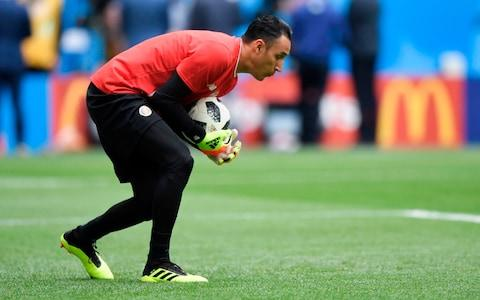 Costa Rica's goalkeeper Keylor Navas warms up before the Russia 2018 World Cup Group E football match between Brazil and Costa Rica at the Saint Petersburg Stadium in Saint Petersburg on June 22, 2018 - Credit: GABRIEL BOUYS/AFP/Getty Images