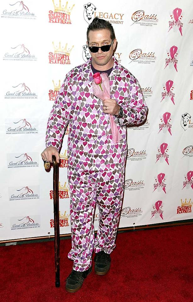 "Stephen Baldwin certainly won't get any hearts racing in this getup. In fact, the third most successful Baldwin brother shouldn't even lounge around his house in these putrid pajamas. Chelsea Lauren/<a href=""http://www.wireimage.com"" target=""new"">WireImage.com</a> - February 13, 2010"