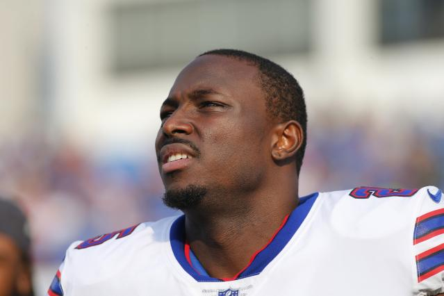 Running back LeSean McCoy was a surprising cuts casualty on Saturday before the Chiefs scooped him up. (AP)
