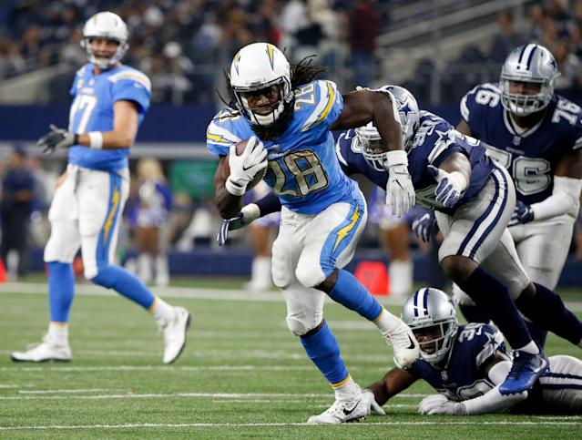 The Chargers are bringing the powder blue back. (AP Photo/Michael Ainsworth)