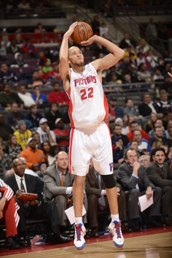 AUBURN HILLS, MI - DECEMBER 30: Tayshaun Prince #22 of the Detroit Pistons goes for a jump shot during the game between the Detroit Pistons and the Milwaukee Bucks on December 30, 2012 at The Palace of Auburn Hills in Auburn Hills, Michigan. (Photo by J. Dennis/Einstein/NBAE via Getty Images)